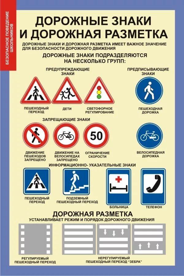 Дорожные знаки для рисования схем